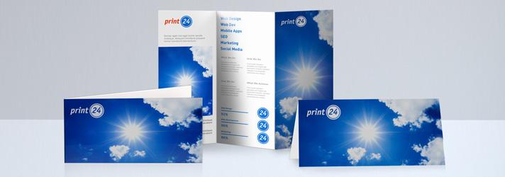 DIN Lang Flyer drucken lassen - Online-Druckerei print24