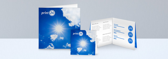 Quadratische Flyer drucken lassen - Online-Druckerei print24
