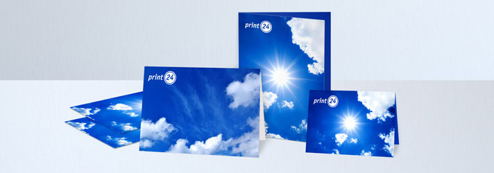 Folded card printing in DIN and special format - Online at print24