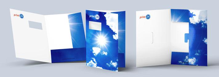 Präsentationsmappen drucken lassen - Online-Druckerei print24
