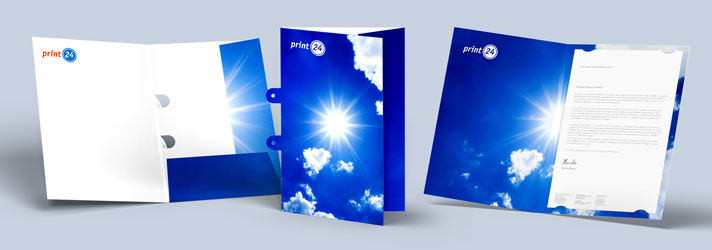 Design folders and print them online at print24
