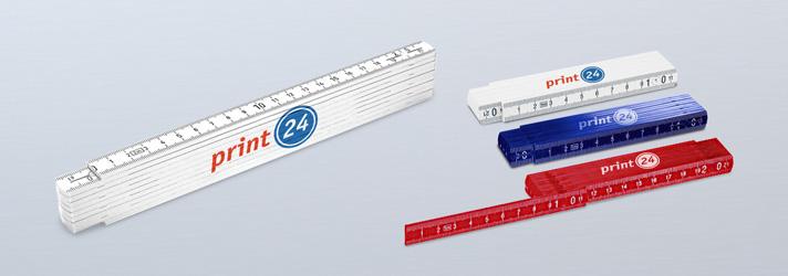 Personnaliser mètre plastique pliant - En ligne avec print24.com