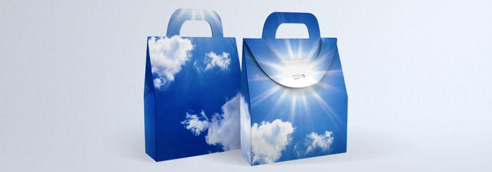 Faire imprimer des boîtes à poignée personnalisées - Imprimerie en ligne print24