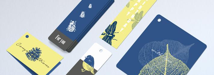 Cartellini da regalo stampati con fori - Online su print24