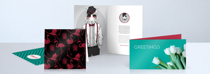 Personalised greeting card printing - Online at print24