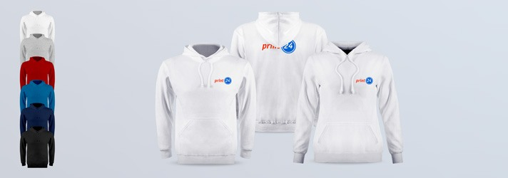Order Premium Hooded Sweater for women and men with personal print - various colours