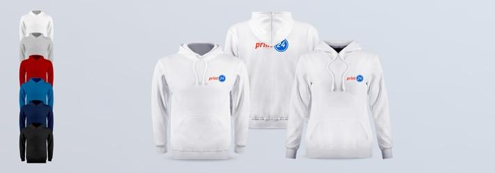 Kapuzenpullover Premium für Frauen und Männer mit persönlichem Druck bestellen - verschiedene Farben, Hoodie vorn und hinten bedrucken lassen