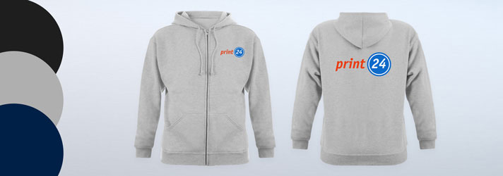 Personalised printed Zip-up Hoodies for men - Online at print24
