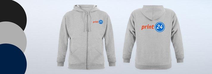 Imprimer toutes sortes de vestes à capuche - Imprimerie en ligne print24.com