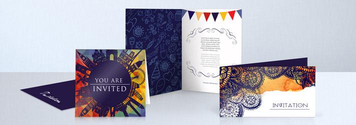Einladungskarten drucken lassen 4-seitig in verschiedenen Formaten - Online-Druckerei print24