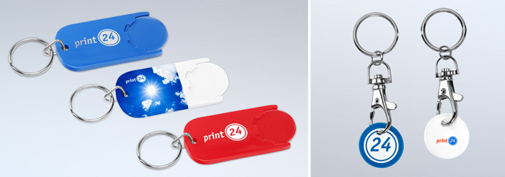 Printed keyrings - Online at print24