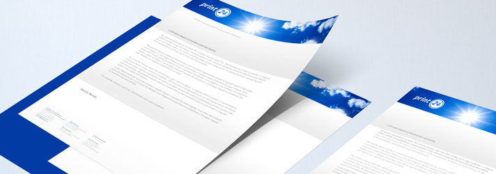 Letterhead printing - Online at print24