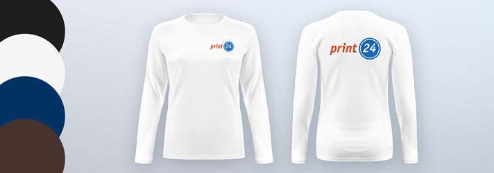 Damen-Langarmshirts online erstellen - Günstig bei Druckerei print24