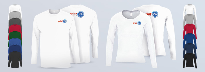 Longsleeves Classic for men and women - Online at print24