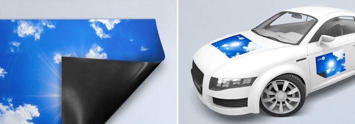 Magnetfolien & Automagnetschilder drucken lassen - Online-Druckerei print24