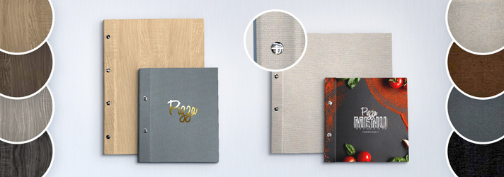 Menu folders with textured covers - Online printing at print24