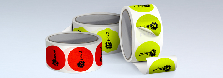Printing neon stickers on a roll with UV-resistant colours - Online at print24