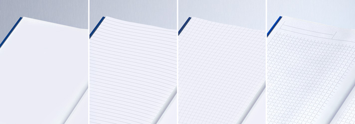 Verschiedene Lineaturen beim Notizbuch - Günstig bei Druckerei print24