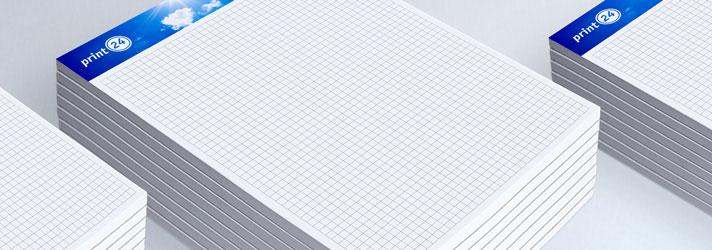 DIN A4 Schreibblock drucken lassen - Günstig Online-Druckerei print24
