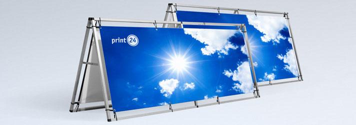 Acheter des bannières publicitaires avec leur cadre en aluminium - Imprimerie en ligne print24.com