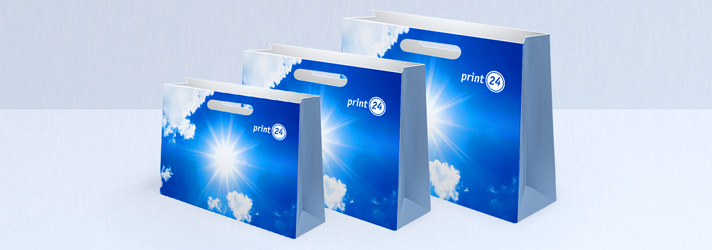 Carrier bags with die-cut handles for printing - print24 online printing service