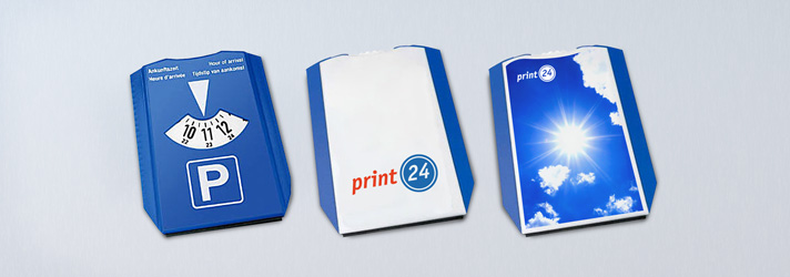 Printed parking disc - Online at print24