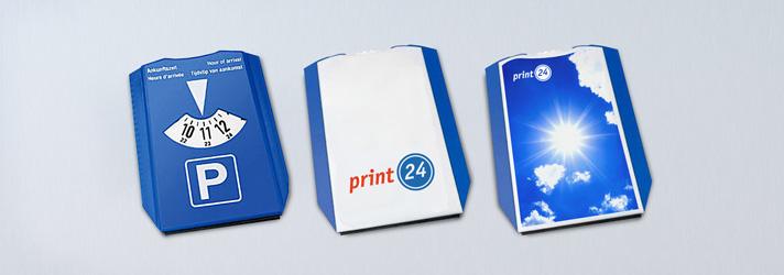 Disque de stationnement publicitaire personnalisé - En ligne avec print24.com