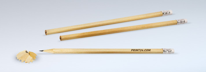 Printing personalised pencils - Online at print24