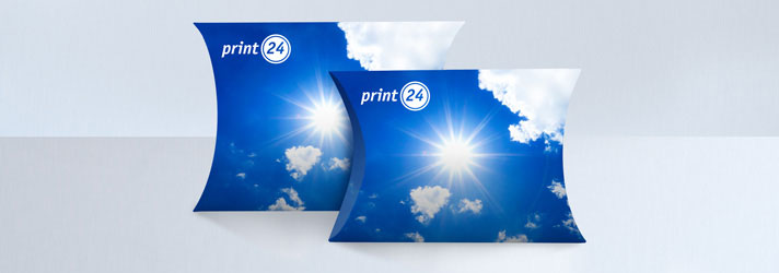 Custom Pillow Boxes printing - Online at print24