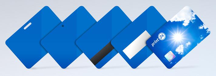 Plastikkarten drucken lassen und mit vielen verschiedenen Extras ausstatten - Online-Druckerei print24
