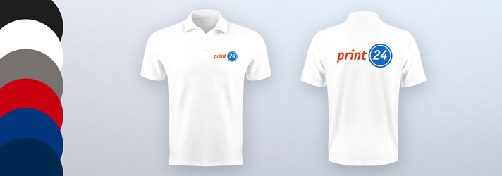 Personalised Polo Shirt printing - Online at print24