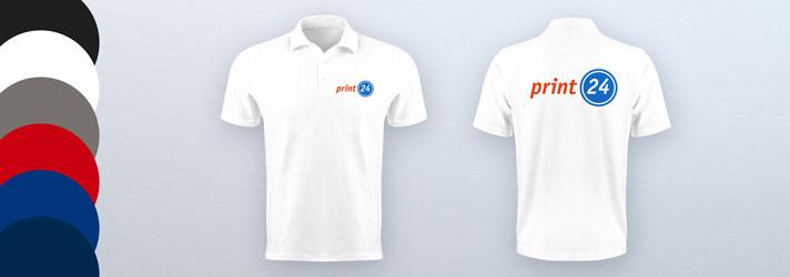 Individuelle Poloshirts für Männer bedrucken lassen - Online-Druckerei print24