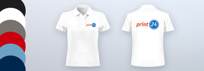 Create and print Polo Shirts for women online - Cheap at print24