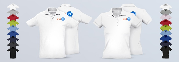 Individual Classic Polo Shirts for Men and Women printed - Online Printing print24
