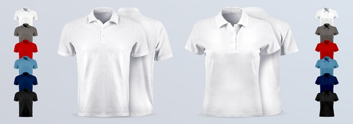 Individual Premium Polo Shirts for Men and Women printed - Online Printing print24