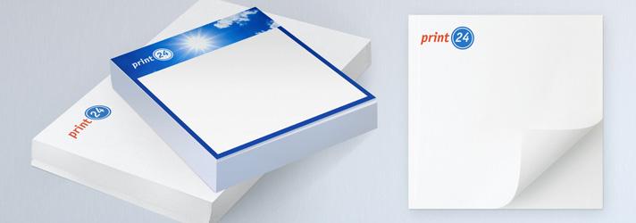 Faire imprimer des blocs notes adhésives personnalisés - Imprimerie en ligne print24.com