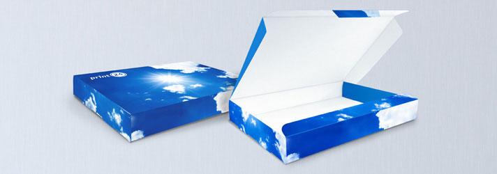 Post Schachteln drucken und veredeln lassen - Online-Druckerei print24