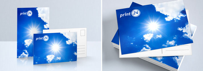 Postcard printing with individual design - Cheap at Online Print Shop print24