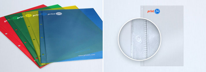 Prospekthüllen und Klarsichthüllen bedrucken lassen - Online-Druckerei print24