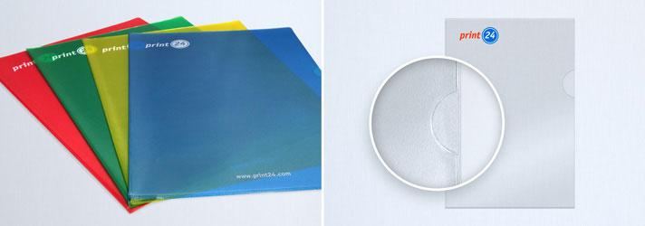 Klarsichthüllen und Prospekthüllen online erstellen - Günstig bei Druckerei print24