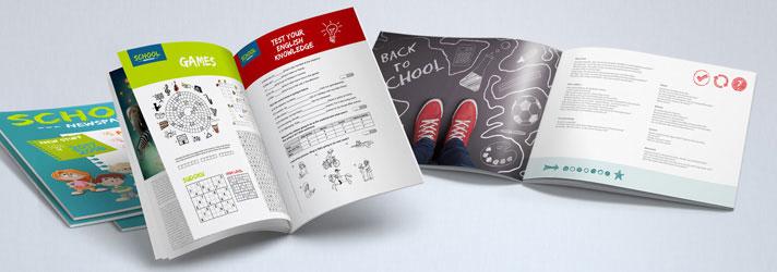Schüler-Magazin & Schülerzeitungen günstig drucken lassen - Online-Druckerei print24