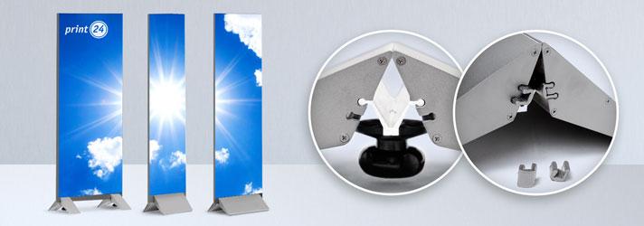 Aluminiumstandfüße zur Befestigung von Standschildern
