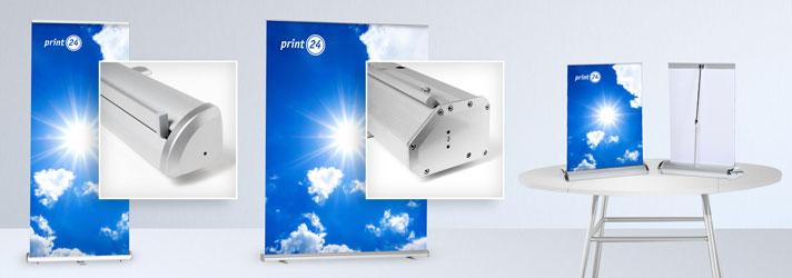 Roll-Up Display günstig drucken in verschiedenen Ausführungen - Online bei print24