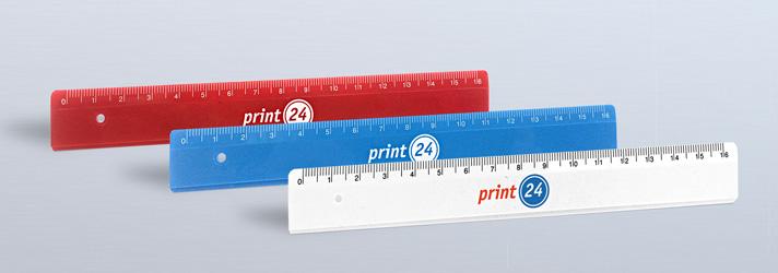 Lineale bedrucken lassen - Online-Druckerei print24
