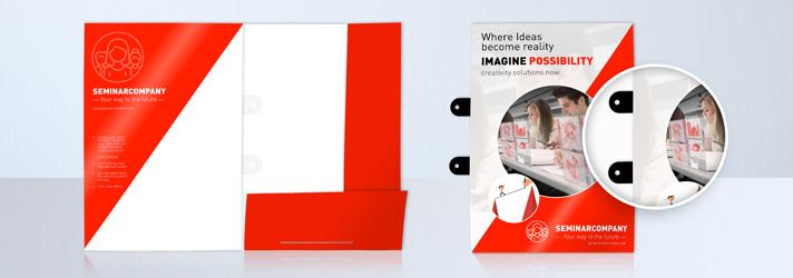 Cartelline per conferenze da stampare - Online su print24