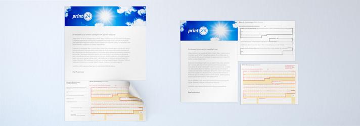 SEPA-Zahlscheine drucken lassen - Online-Druckerei print24