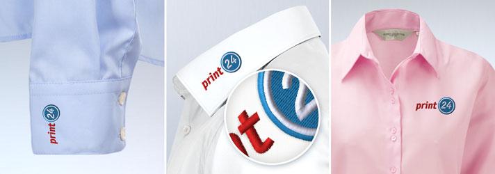 Herren-Hemden besticken lassen - Online-Druckerei print24