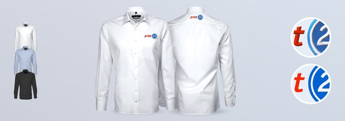 Personalised Exclusive shirt embroidering or printing - Online at print24