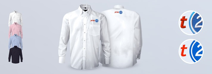 Personalised Premium shirt embroidering or printing - Online at print24