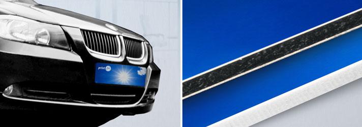 Crea targhe per auto personalizzate e stampale online - Online su print24